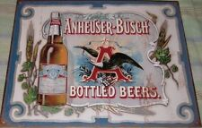 Anheuser Busch Bottled Beers Tin Metal Sign Man Cave Garage Wall Decor