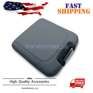 For 2013-2018 Dodge Ram Leather Center Console Lid Armrest Jump Seat Cover Gray