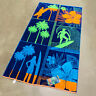"""Surf Palm Trees Tropical Floral Ocean Beach Towel 40""""x 72"""" by Resort Living"""