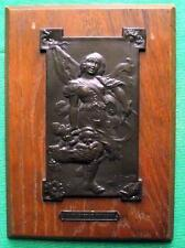 Original c1900 ART NOUVEAU FRENCH LADY BRONZE PLAQUE by Becker and A Willette
