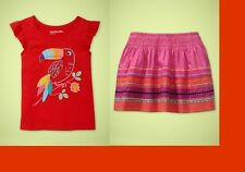 baby Gap 5T NWT Toucan T shirt top Embroidered Skirt Cabana Hawaiian Party Luau