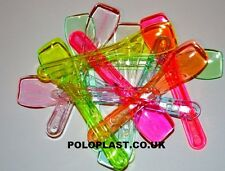 50 PLASTIC*TASTING*SAMPLING*ICE CREAM*DESSERT*SPOONS* MIX COLOUR*  FREE UK POST