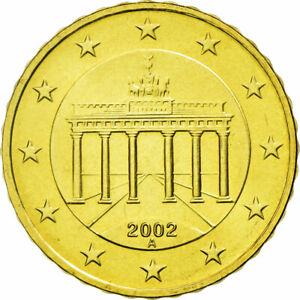 [#587498] République fédérale allemande, 10 Euro Cent, 2002, SPL, Laiton, KM:210