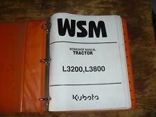 Kubota L3200 L3800 Tractor Shop Service Repair Manual