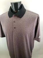 Adidas ClimaLite Mens Golf Short Sleeve Polo Shirt Heathered Purple Size 2XL