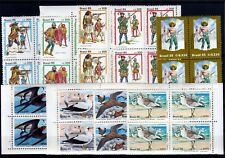 BRAZIL (1985) Year Set in Blocks of 4 Commemorative Stamps MNH Cat Val $101