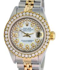 Rolex Lady Datejust White MOP String Diamond Dial Diamond Bezel 26mm -QUICKSET