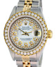 Rolex Lady Datejust White MOP String Diamond Dial Diamond Bezel 26mm -QUICKSET