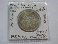 Australia 1953 M Silver Florin coin QEII GEM Choice Uncirculated   CV $500