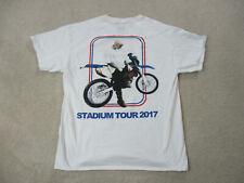 Justin Bieber Concert Shirt Adult Large White Red Concert Tour Pop Singer Mens *