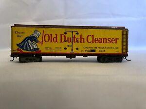 """HO Varney (all metal) 40ft """"Old Dutch Cleanser"""" Wood Reefer/Box Car"""