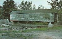 Covered Bridge at Cowlesville, New York Cayuga Creek Postcard A01