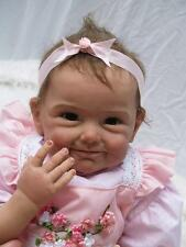 Real Looking Cute Reborn Baby Doll Girl Silicone Newborn Doll Pink 22 Inch 55cm
