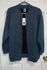 M Missoni Women's Jacket Medium Striped Knit Zipper Sweater Cardigan Coat