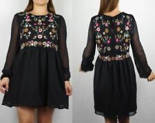 Lace Regular Size Dresses for Women with Embroidered
