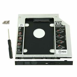 12.7mm Universal SATA 2nd HDD SSD Hard Drive Caddy for CD/DVD-ROM Optical Bay