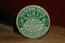 Vintage Advertising Tin Fluxite Soldering Paste Flux Tin with some contents
