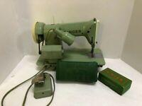 Vintage Singer Sewing Machine Green # RFJ8-8 Ships Immediately!
