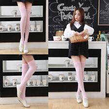 1Pair Cute Girl Over Knee Socks Thigh High Stripe Long Stocking Fashion Decor