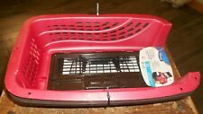 petmate 10 pound 2 door easy access portable 19 inch pet carrier new