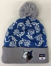 newest 405c1 60186 adidas Women s Minnesota Timberwolves Cuffed Pom Knit Hat