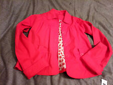 Dunnes St Bernard BNWT Girls Red Swing Jacket Size Chest 33/34in
