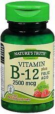 Nature's Truth Vitamin B-12 2500 mcg plus Folic Acid Fast Dissolve Tabs...