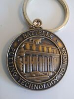 Collectible Brass Key Chain Battelle Company 1990 Commercialization Team