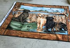 New listing Springs Creative Duck Hunting Dogs Fabric 2010 Labrador Retrievers Craft Project