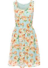Hübsch bedrucktes Sommerkleid mit hoher Taille  Gr.38