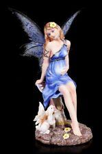 Enceintes Figure motif ELFE AVEC LAPIN - fée fée Statue FANTASIE mère
