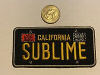 SUBLIME license plate logo ska punk Santeria What I Got EMBROIDERED PATCH NEW