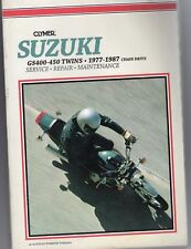 77-87 CLYMER Suzuki GS 400 450 Service Manual Repair Maintenance gs400 gs450 NEW