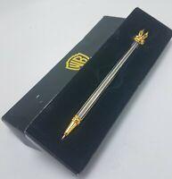 Vintage 1990's Warner Looney Tunes Road Runner Silver & Gold Tone Ink Pen in Box