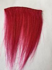 """4"""" Human Hair Extensions streaks Bangs # Pink 5"""" Wide"""