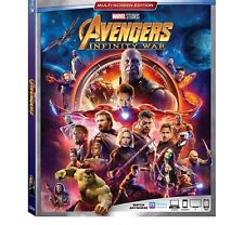 AVENGERS INFINITY WAR Blu-ray (CASE, COVER, & ALL DISC) NO CODE!!!