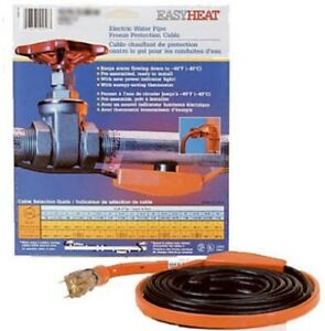 15' Electric HEAT TAPE Cable w/ Thermostat - EasyHeat