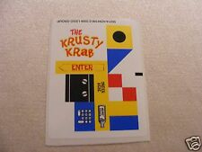 LEGO 3825 - Spongebob - Krusty Krab - STICKER SHEET