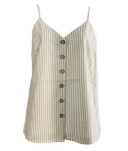 *NWT* S4O Size 14-16 Ladies Neutral/Beige Linen Blend Camisole Summer Top