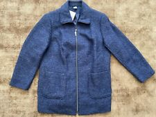 Blue Wool Blend Jacket Plus Size 22 Petite NEW