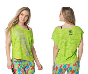Zumba Burnout Top - Get In Lime ~ XS, Small, Medium, Large, XL, XXL ~ New