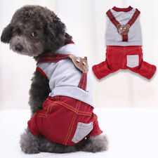 Dog Cat Puppy Striped Sling Pants Dress Sweater Hoodie Coat For Pet Dog Clothes