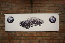 BMW 7 series E32 large pvc  WORK SHOP BANNER garage  SHOW BANNER