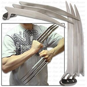 """1 Pair (2 pcs) Full Size 9.45"""" Stainless Steel Wolverine Wolf Claws 2 lbs"""