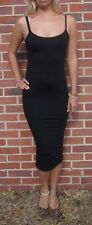 Womens Midi Tall Length Strappy Dress Summer New Black Size 8 10 12 14 16 18 20