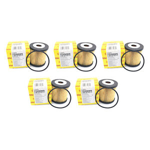 NEW Set of 5 Engine Oil Filters Bosch Workshop for Volvo C70 S40 S60 S80 XC70