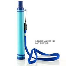 Military 99.9% Water Filter Purification Emergency Gear Straw Camping/Hike Tools