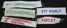 6 Vintage Patches 1970's 18th & 19th Camberwell Aspley 3rd Manly