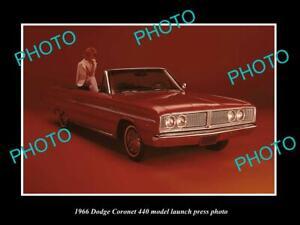OLD 8x6 HISTORIC PHOTO OF THE 1968 DODGE CORONET 440 LAUNCH PRESS PHOTO