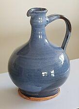 Soliflore Vase boule terre cuite émaillée nuance de bleu